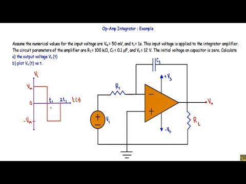 Op Amp Integrator : Circuit Example (hard)
