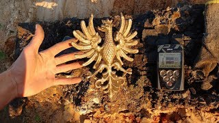 Found Huge Eagle in the ground but not gold - metal detecting, treasure relic hunting