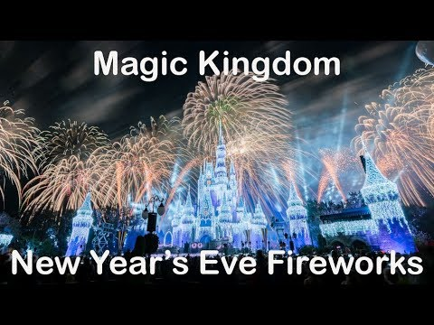 2018 New Year's Eve Fantasy in the Sky Fireworks at the Magic Kingdom (4K Multi-Angle)