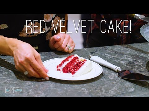 A Delicious Red Velvet Cake Recipe with Lilly Cakes  Courtney and Mario Lopez