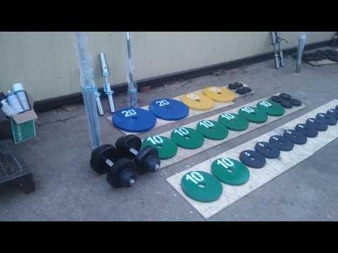 Спорт164.Обзор штанги весом 230 кг+грифы гантельные+2 разборных гантели по 30 кг