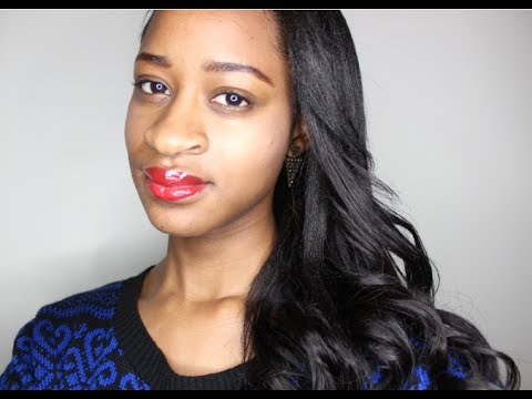 prom relaxed hair hairstyle 2014