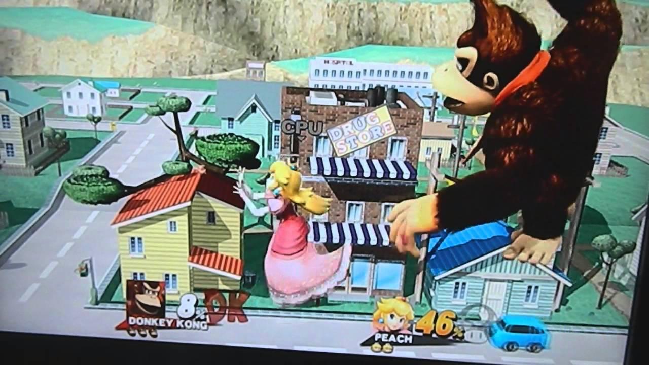 super smash bros wii u mega donkey kong vs mega peach