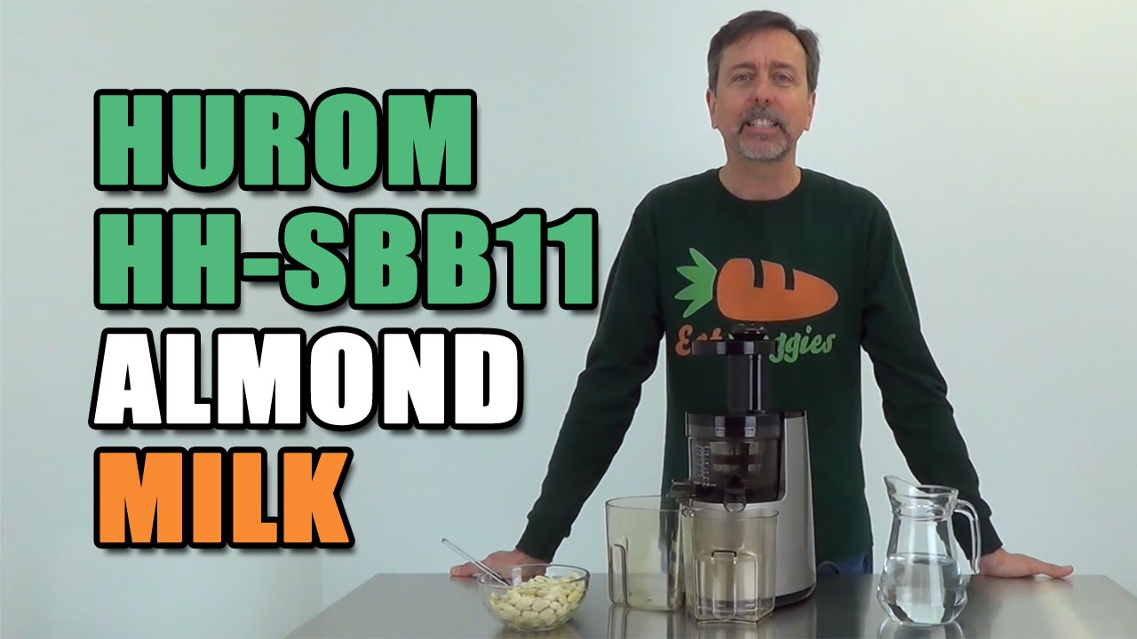Hurom Slow Juicer Almond Milk Recipe : Hurom Elite Juicer SBB11 Almond Milk - YouTube