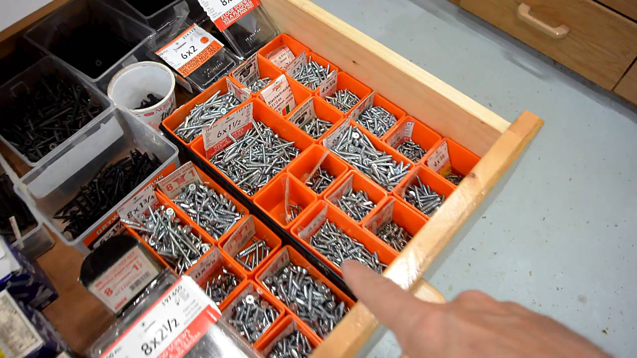 Screws Drawer Organized Youtube