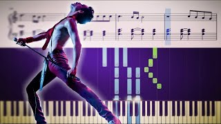 How to play the piano part of Bohemian Rhapsody by Queen (with Sheets)