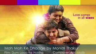 Moh Moh Ke Dhaage (Female) Karaoke with (lyrics below)