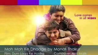 Moh Moh Ke Dhaage (Female) Karaoke with (lyrics below)