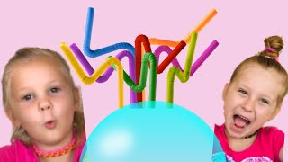 Zoja i Asja prave Slamka Slajm. Pravimo Balone od Slajma.  Magicni Slaim.
