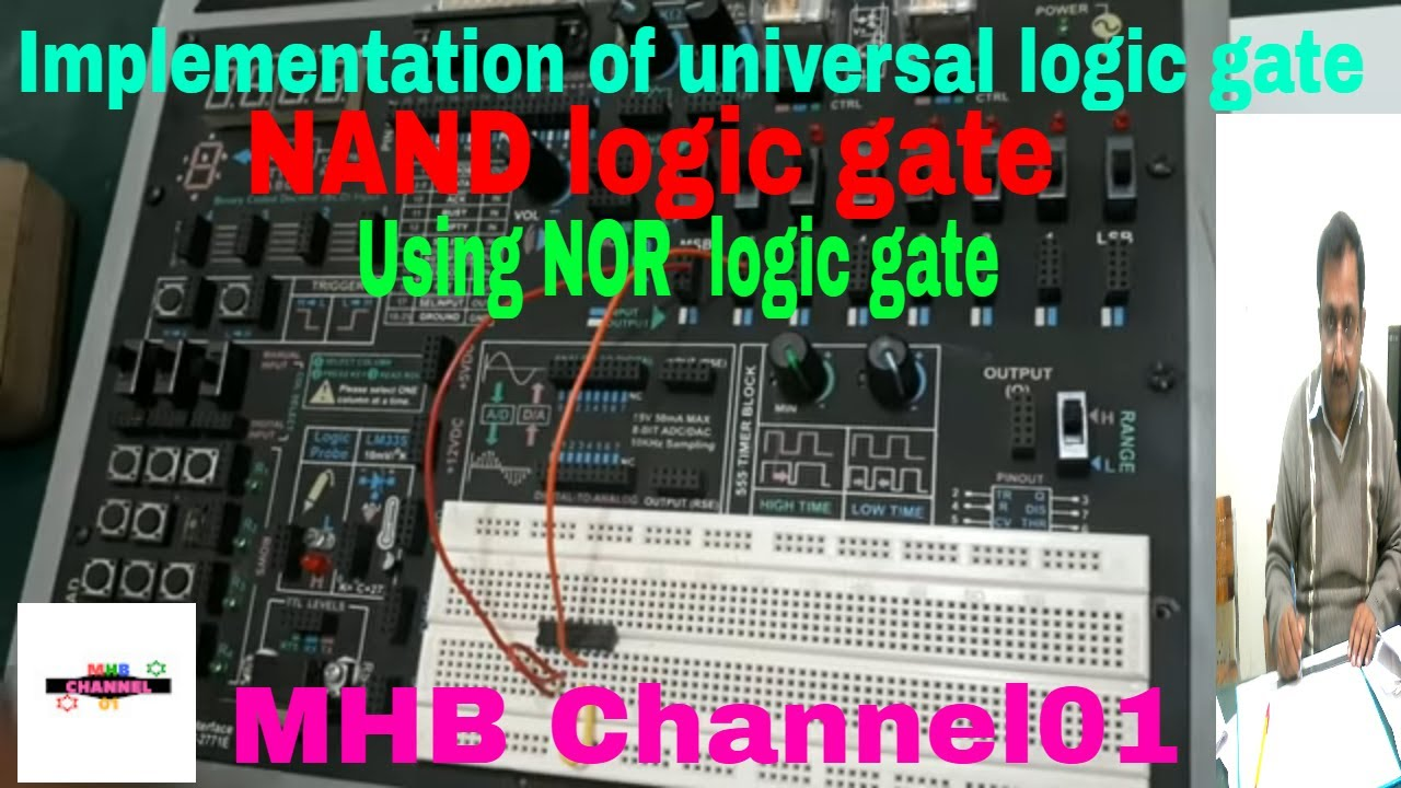 How To Construct Nand Gate Using Nor Logic Youtube Circuit Diagram