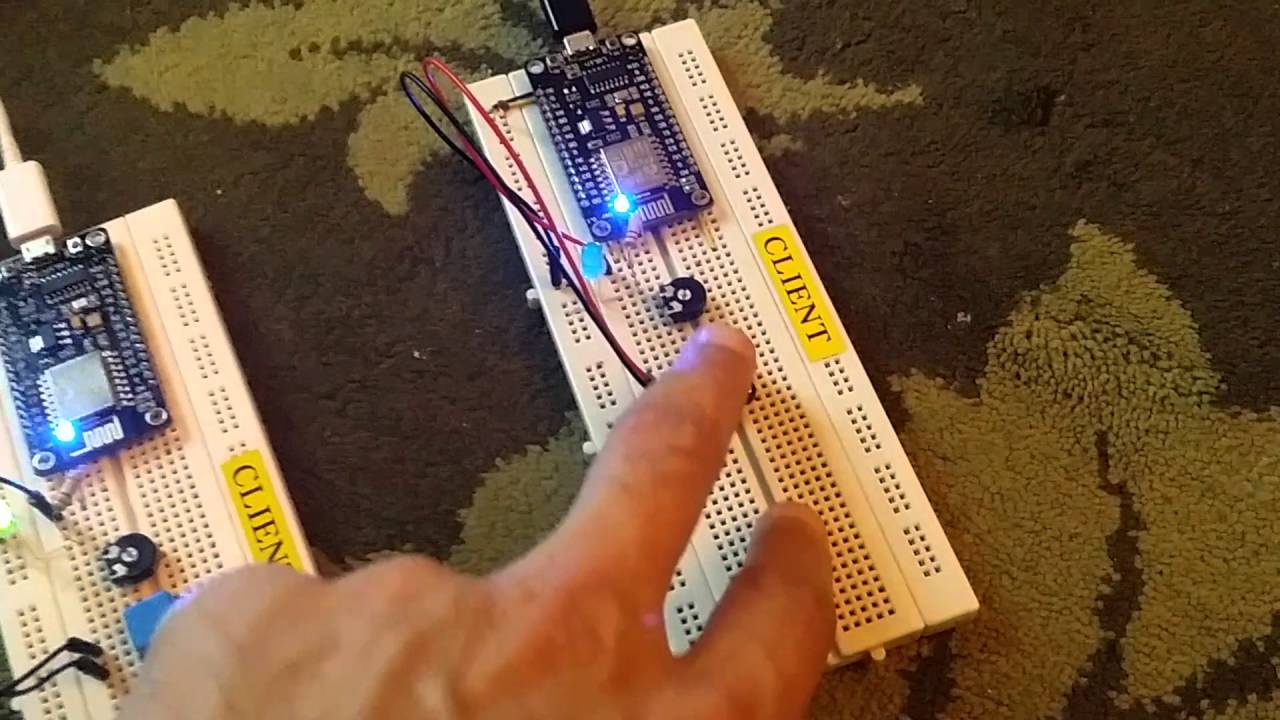 ESP8266 Node MCU - TCP (Server And Two Clients)