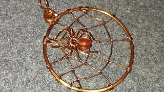 Pendants spiders on net spider - making wire wrap jewelry 60