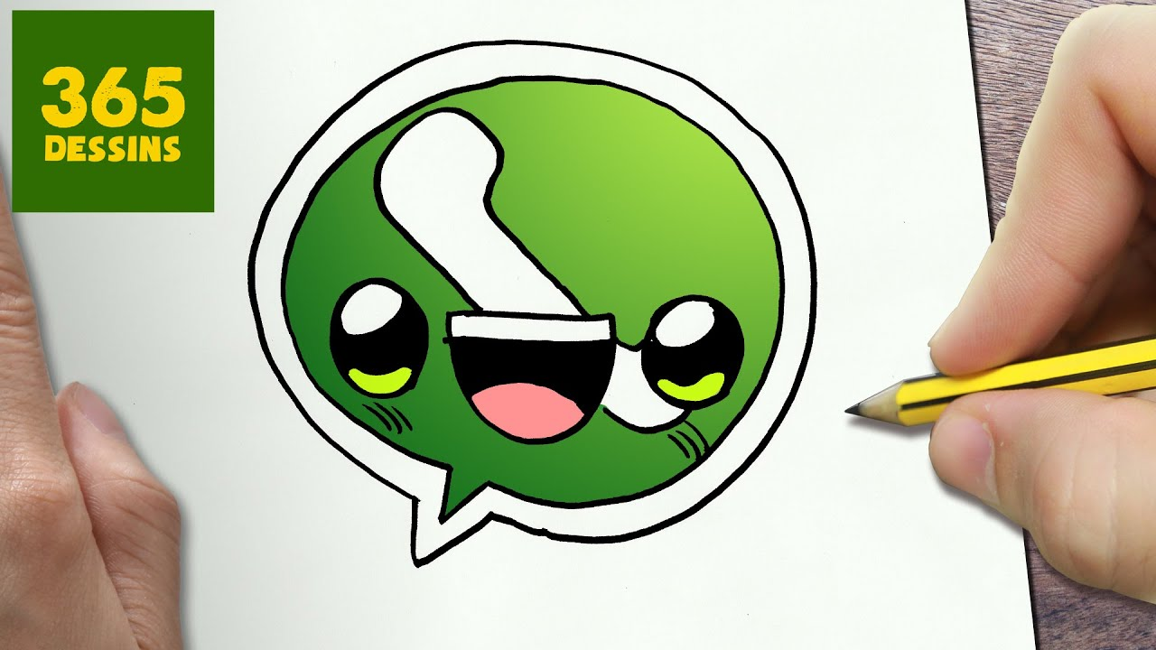 Comment Dessiner Whatsapp Logo Kawaii étape Par étape Dessins Kawaii Facile