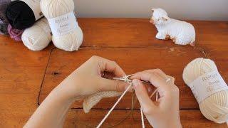curso iniciao ao tricot tricotar 2 malhas juntas k2tog p2tog