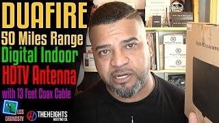DuaFire 50 Miles Range Digital Indoor HDTV Antenna 📡 : LGTV Review
