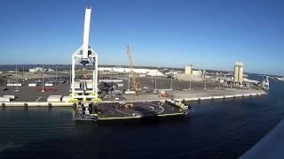 Boarding Carnival Magic Cruise Ship from Cape Canaveral Florida.