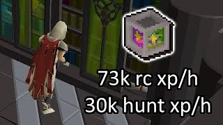 73k runecrafting & 30k hunter xp/h - The Arceuus Library