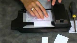 w// 100 Short Sales Slips Addressograph Bartizan 4850 Credit Card Imprinter