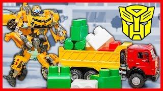 Мультфильм про трансформеров. Бамблби и Грузовичок. Помощь грузовичку. Машинки для детей. Мультик