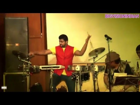 Percussion instrument player bobby pathak live with his setup