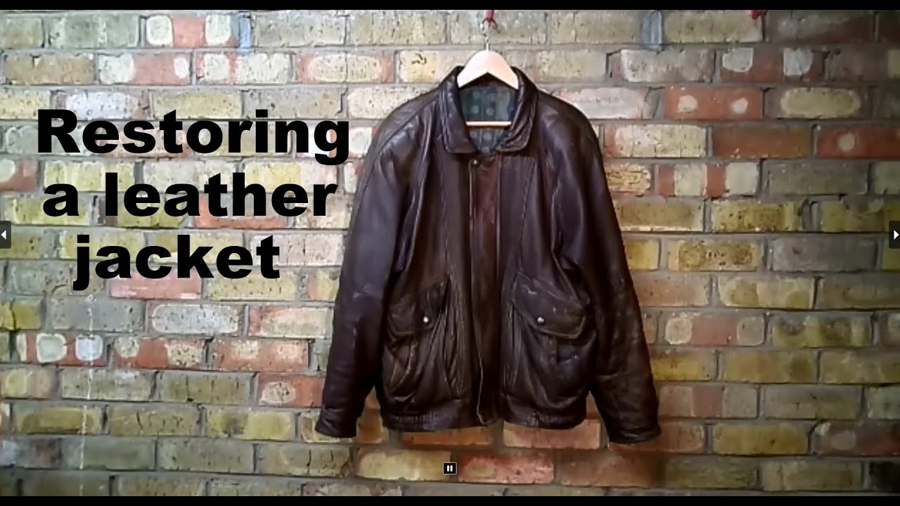 restoring a leather jacket youtube