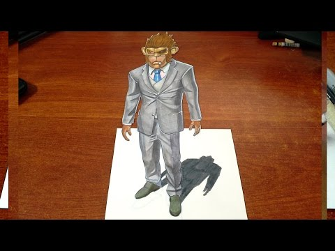 Amazing Art - Drawing Franklin from GTA in 3D - 3D Trick Art on Paper
