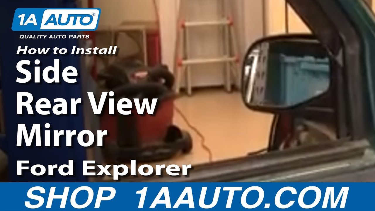 how to install replace broken side rear view mirror ford explorer 95 01 youtube. Black Bedroom Furniture Sets. Home Design Ideas