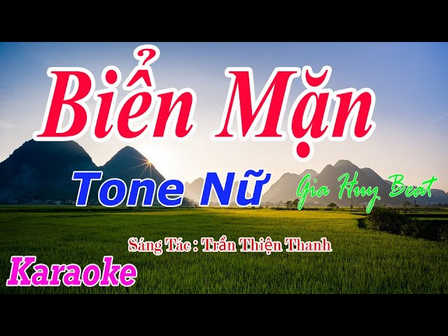 Biển Mặn - Karaoke - Tone Nữ - Nhạc Sống - gia huy beat