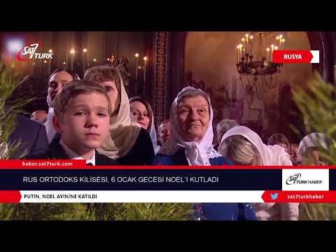 Rus Ortodoks Kilisesi, 6 Ocak Gecesi Noel'i Kutladı | 11.01.2019