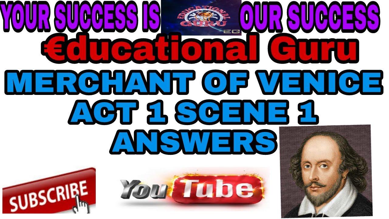 merchant of venice answers