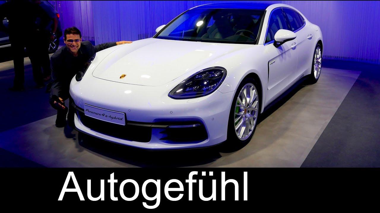 New Porsche Panamera 4e Plugin Hybrid Preview Exterior Interior Ceo Interview Oliver Blume You