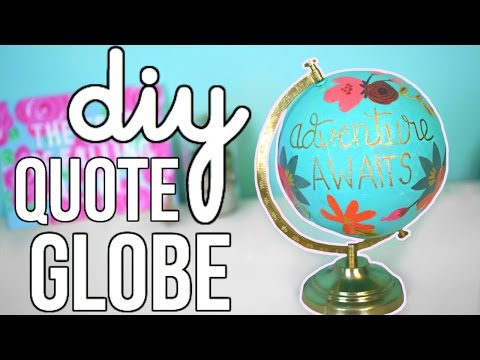 DIY Quote Globe: Anthropologie Inspired!