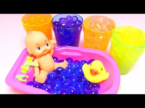 Cute Orbeez Baby Doll Bath Fun Play - Magic Water Pearls with Toys