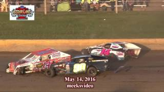 Cedar Lake Speedway Midwest Modified Crash