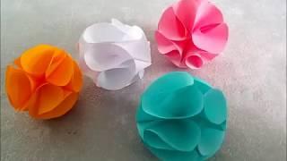 Как сделать декоративные бумажные шары (помпоны) любого размера, для оформления праздника