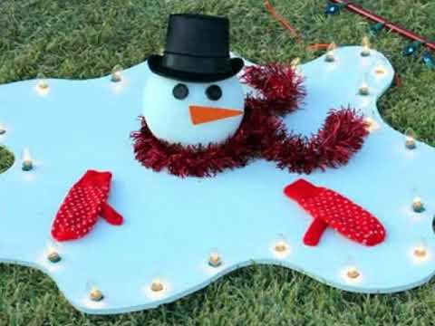 Homemade Outdoor Christmas Decorations - Homemade Outdoor Christmas Decorations - YouTube