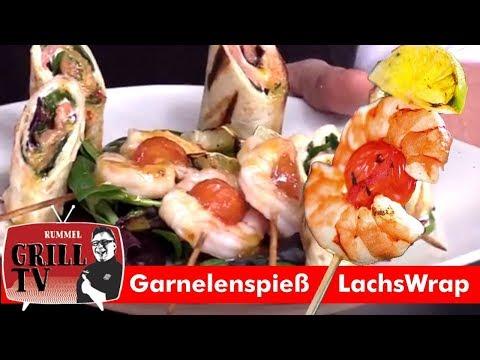Lachsrolle /Garnelenspiess