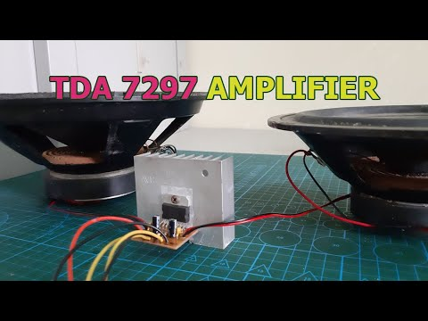 DIY Powerful HiFi Amplifier with TDA 7297 IC