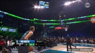 Dirk Nowitzki 3 point contest highlights, 1st round|NBA All Star weekend| February, 16th, 2019