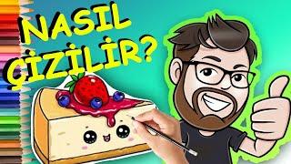 NASIL ÇİZİLİR ? | Çok Kolay Kek Resim Çizimi Cheesecake Drawing