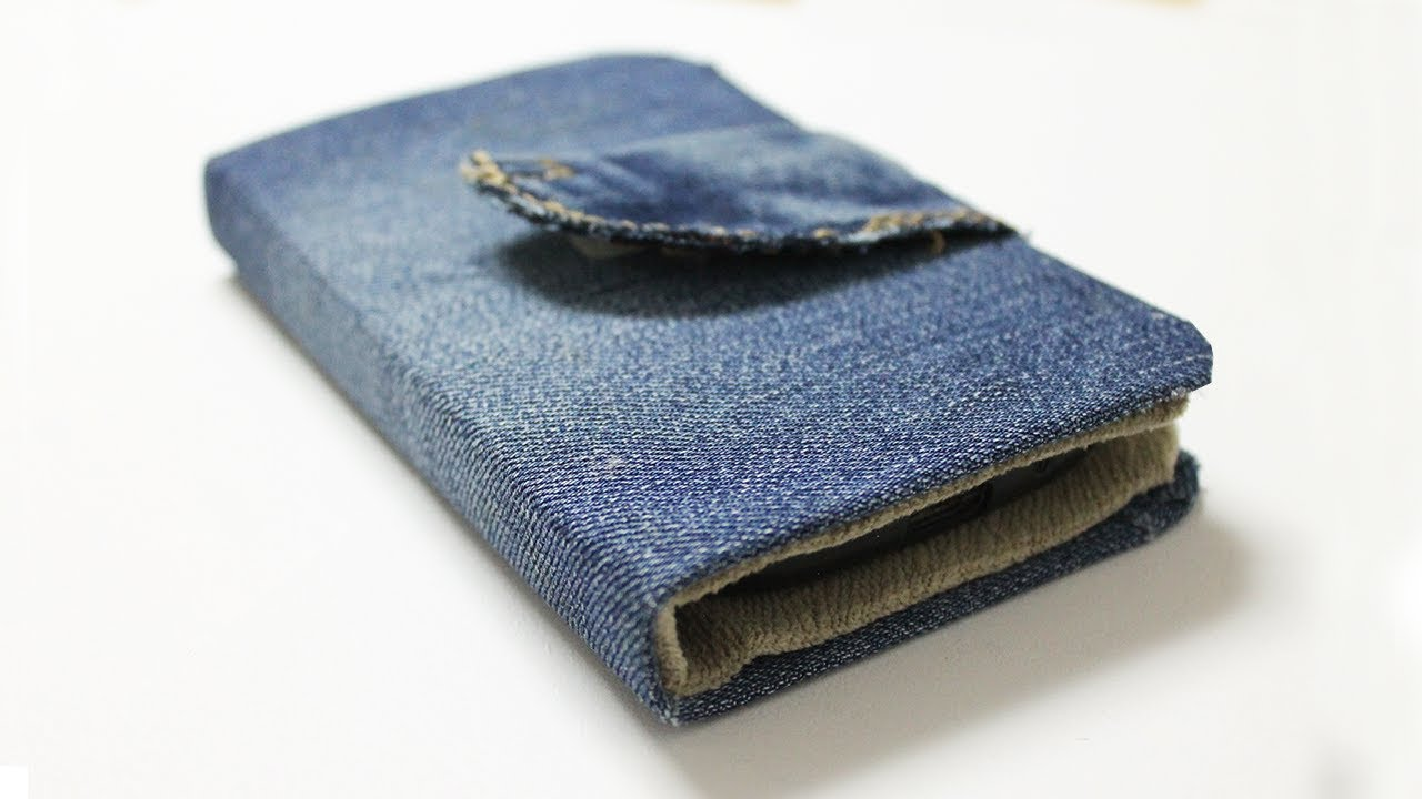 separation shoes 2ea28 0e64d How to make a Phone Case out of Jeans - DIY Wallet Phone Case Easy