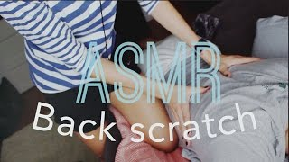 ASMR Real Person Back Scratch/Massage! (For Sleep and Relaxation)
