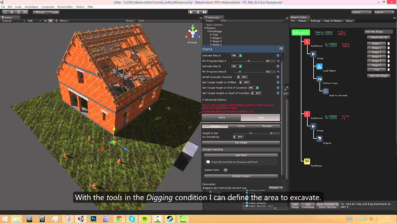 High Quality Construction Simulator 2015: Mission Editor Tutorial (DE / EN Subs)    YouTube