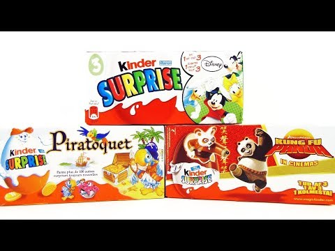 Видео: Раритет Киндер Сюрприз 18 Микки Маус Disney,Кунг Фу Панда,Попугаи-пираты Kinder Surprise unboxing