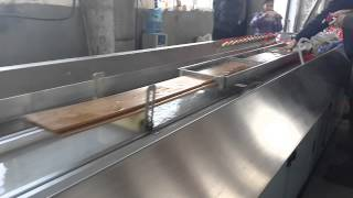 Qatar Customer--pe Wood Compoiste Wall Panel Extruder Machine