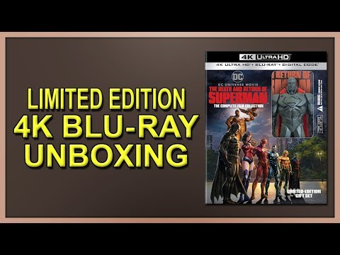 The Death And Return Of Superman: The Complete Film Collection 4K+2D Blu-ray Gift Set Unboxing