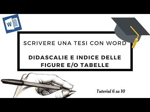 [Tesi 6su10] Scrivere una tesi con Word - Didascalie e Indice delle figure e/o tabelle