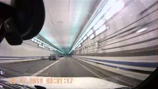 Virginia Beach - Hampton underwater tunnel on I-64