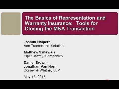 Seminar Playback: Basics of Representation and Warranty Insurance