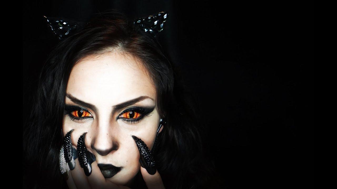Pisica Neagra Machiaj Pentru Halloween Youtube